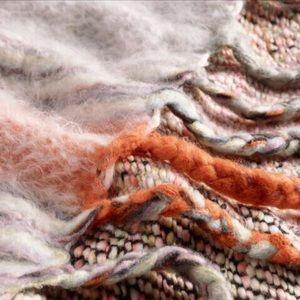 NWT Boho striped throw blanket w/ braided tassels
